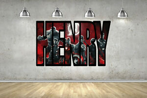 Avengers Blood Red Personalised Border Name Children Wall Art Sticker Decal