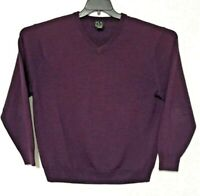 JOS A BANK Signature Collection Sweater Mens Size XL Purple Long Sleeve Pullover