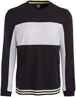 Ideology Mens T-Shirt Black Medium M Colorblock Striped Mesh Varsity Hem $35 150