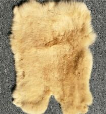 Genuine Naturally Rabbit Fur Skin Yellow Leather Hides Craft Gray Pelts Fashion
