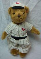"TY Beanie Baby 2000 Attic Treasures BASEBALL TEDDY BEAR 8"" STUFFED ANIMAL Toy"