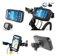 Sleeve Holster or Armband or Belt Clip for Pantech Caper Txt8035 Bicycle Cycle Handlebar Mount Black