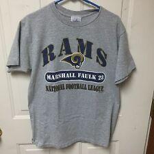 *Retired Number* LA Rams Grey T-Shirt, Marshall Faulk 28 (HOF)