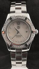 WAF1416.BA0813 Tag Heuer Ladies Aquaracer Swiss Quartz Pearl Diamond  Watch