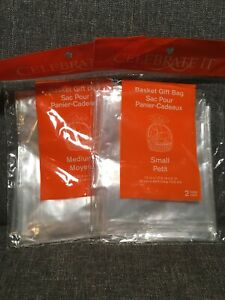 """""""Celebrate It"""" Basket Gift Bags- 1 Medium And 2 Small"""
