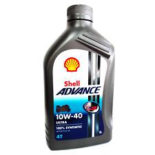 Olio motore moto Shell Advance Ultra 10W40 4T API SM / JASO MA2 - 1 Litro