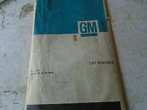 1956-1962 cadilliac 56-58 kaiser darrin valve grind gasket set no v/c ga nos gm
