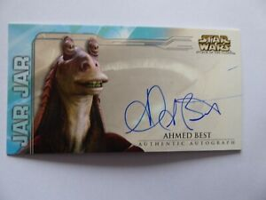 STAR WARS ATTACK OF THE CLONES WIDEVISION AUTO  AHMED BEST AS JAR JAR BINKS