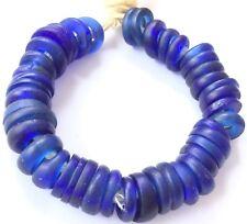 44 Antique African Annular Cobalt Blue Dutch Donuts Glass African Trade beads