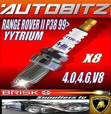 FITS RANGE ROVER II 4.6 4.0 P38 V8 1999> BRISK SPARK PLUGS X8 YYTRIUM