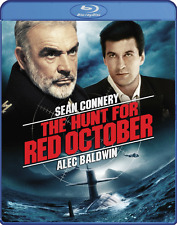 The Hunt for Red October (Sean Connery, Alec Baldwin) Bluray ~ New, Ships Fast