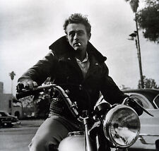 "James Dean motorbike famous actor Vintage Print Poster  Large 24"" x 24"" photo"