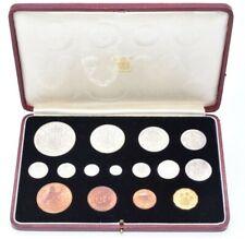 More details for 1937 specimen coin set leather case king george vi crown - half penny maundy (d)
