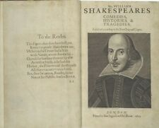 The First Folio Of Shakespeare - Leather bound facsimile