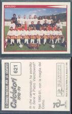 FIGURINA CALCIATORI PANINI 1998/99-SQUADRA AREZZO-N.621-NUOVA CON VELINA