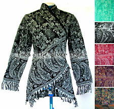 Acrylic Collared Floral Jumpers & Cardigans for Women