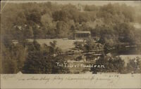 Franklin NH The Island c1905 Real Photo Postcard
