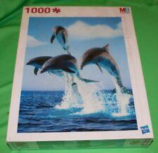 Boîte MB PUZZLE 1000 Pièces - SAUT DES DAUPHINS dimensions 665 X 500 mm NEUF