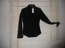 NWT anne Fontaine Paris ~ Art To Wear ~ Black Evalina Unique French Cuff Blouse