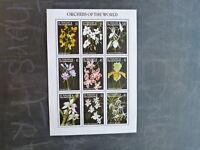 1997 St VINCENT GRENADINES ORCHIDS OF THE WORLD 9 STAMP SHEETLET MINT