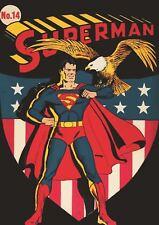 Superman Número 14 impresión de arte cartel A3 tamaño GZ2365