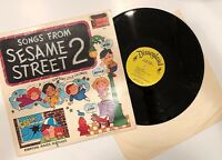 VINTAGE 1972 DISNEYLAND SONGS FROM SESAME STREET 2 VINYL RECORD ALBUM