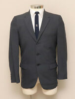 Vintage 1960s Mens 38S Aldrich Grey/Blue/Brown Wool Blazer
