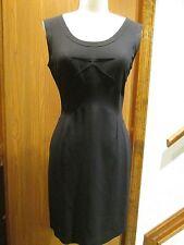 Pada Sleeveless Black Silk Insert Dress Size 42