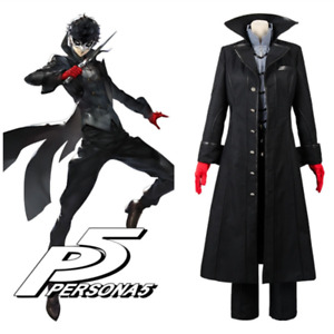 Anime Persona 5 Joker Leading Character Hero Cosplay Costume with Red Gloves