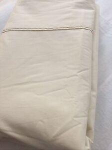 Sheridan DB Cream 100% Cotton Flat Sheet 240 Wide