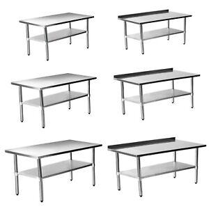 Edelstahltisch Edelstahl Arbeitstisch Aufkantung Küchen Tisch Zerlegetisch