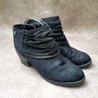 Makalu Halana Womens Tali Sz 8 M Black Suede Ankle Boots Booties
