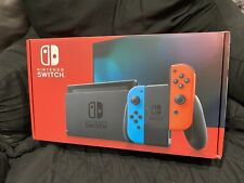 NEW Nintendo Switch Console - Black with Neon Blue and Neon Red Joy-Controller