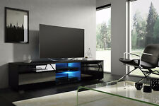 TV Schrank Lowboard Sideboard Tisch Möbel TV Bank TENUS schwarz weiß Eiche LED