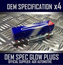4 x OEM DIESEL GLOW PLUGS FGP576 FOR SAAB 9-5 2.2 2002-