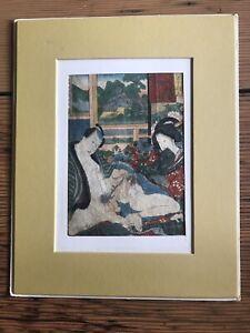 Japanese antique SHUNGA Wood Block Print. Original. Rare