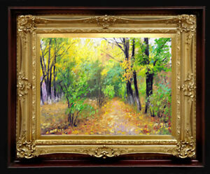 """Oil Painting PRINTED on Canvas Arseni JOY OF BEING 40"""" X 30"""" NO FRAME Art Artist"""