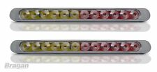 12 V Freno Posteriore/Tail/Indicatore LED Striscia Barra Luminosa Marker Rosso Ambra 12 LED x2