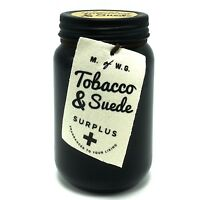 Makers of Wax Goods Tobacco and Suede Scented Jar Candle