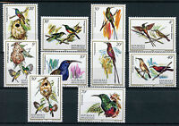 Rwanda 1983 MNH Nectar Sucking Birds 10v Set Nectarinidae Sunbirds Bird Stamps