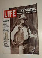 Life Magazine January 28 1972 VG+ The Duke John Wayne G Rated Cowboy