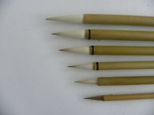 6pc set Chinese paint brushes for Calligraphy watercolour drawing painting WB14