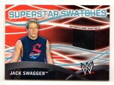 2011 TOPPS WWE SUPERSTAR SWATCHES JACK SWAGGER  EVENT WORN SHIRT RELIC