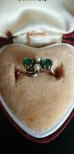 Antique18ct Solid rose Gold/ Gemstone & Seed Pearl RingJ1/2