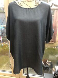 Ladies Denim Blouse Size 22 Cold Shoulder