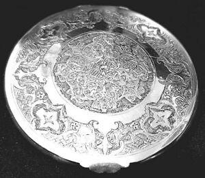 persian  solid Silver compact case/box