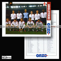 Equipe ANGLETERRE ENGLAND Team The Three Lions EURO 2004 - Fiche Football