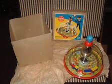 "1963 LBZ TIN & PLASTIC SPINNING ""CHOO-CHOO TOP"" WESTERN GERMANY W/ORIGINAL BOX!"