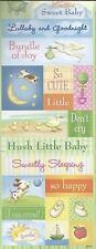 WELCOME BABY Embossed Glitter Scrapbook Stickers