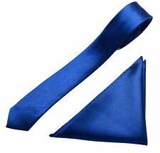Mens Neck Tie and Pocket Square Handkerchief Set Hanky Wedding Skinny